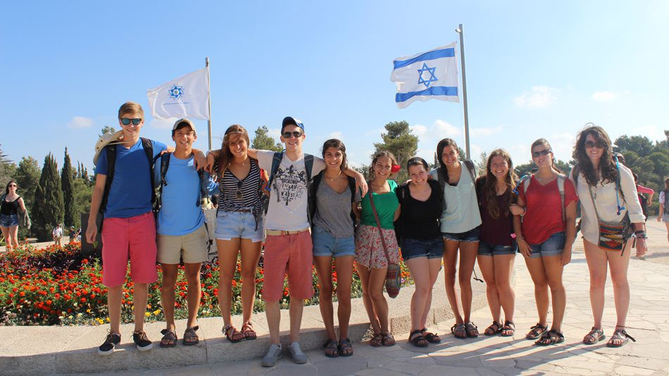 Group-Photo-with-Israel-Flag