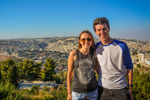 Two young Adults posing in Israel